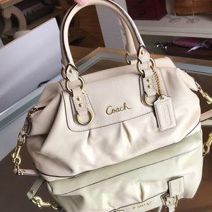 Coach satchel cream color